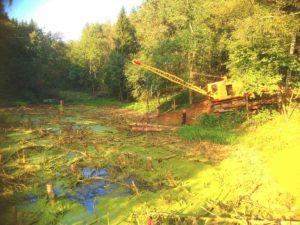 Углубление и очистка пруда в Барвихе (МО, Одинцовский район)