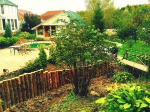 Очистка и укрепление берега речки в Чеховском районе (МО, СНТ «Историк»)