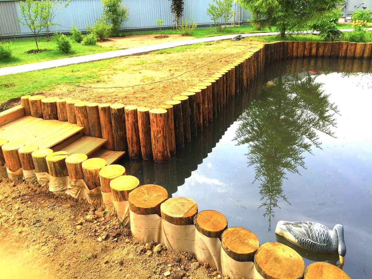укрепление берегов реки фото