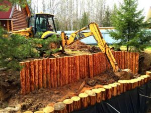 Очистка, углубление и берегоукрепление пруда в Кубинке (МО, Одинцовский район)