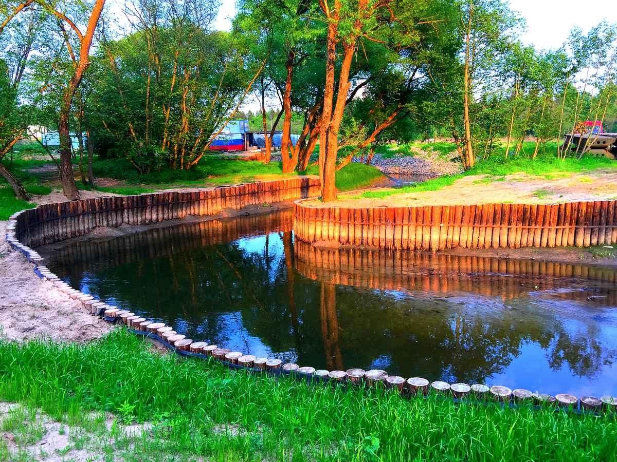 Укрепление берега реки