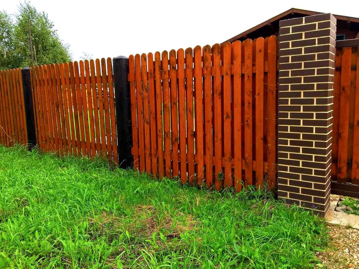 Забор из лиственницы