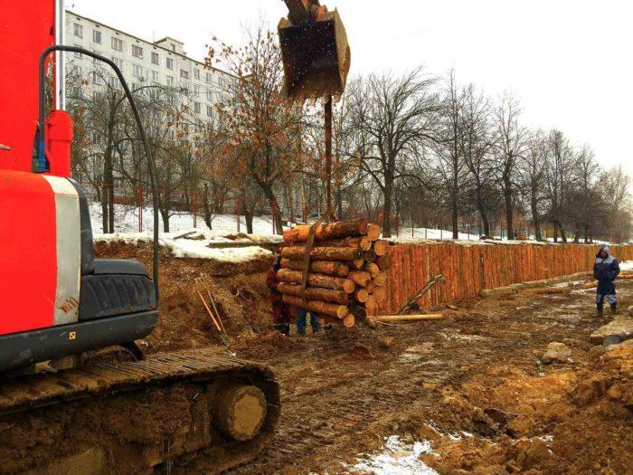 Очистка, углубление и берегоукрепление пруда в Москве ( ул.Чертановская, д. 32)