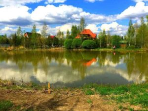 Строительство пруда в Волоколамском районе (МО, п.Рыбаки)
