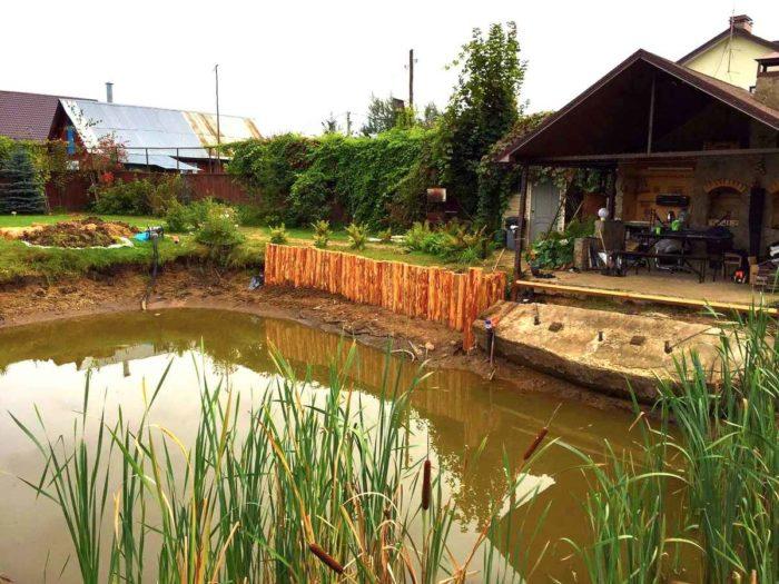 Укрепление берега лиственницей в Раменском районе (МО, д.Капустино)