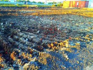 Подсыпка грунта на МКАД (Москва, перед Варшавским шоссе)